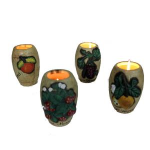 Gecas Regali dal mondo - Portacandele Ceramica Set di 4 Pezzi Misura 5x10 cm