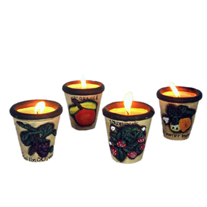 Gecas Regali dal mondo - Portacandele Ceramica set di 4 pezzi Misura 7x8 cm.