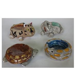 Gecas Regali dal mondo - Portacenere Ceramica Animali Set Di 4 Misure 8x13 cm