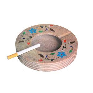 Gecas Regali dal mondo - Portacenere Pietra Saponaria Misura D.15 cm
