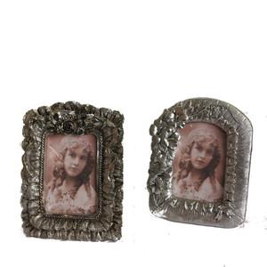 Gecas Regali dal mondo - Portafoto Polystone Argentato Misura 18x14 cm.