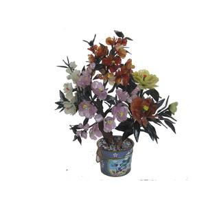 Gecas Regali dal mondo PIANTA Cloisonne' Quarzo E Agata H.40X D. 10 CCM. Il Vaso