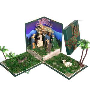 Gecas Regali dal mondo - Presepe In Scatola Con Luce Misura 17 x 30 x 30 cm