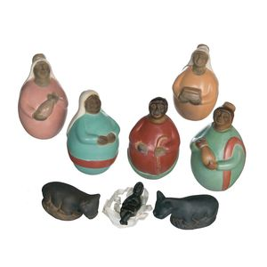 Gecas Regali dal mondo - Presepe Terracotta Ciulucana Misura H.13 cm