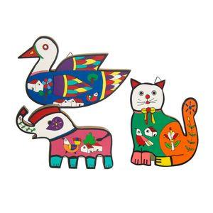 Gecas Regali dal mondo - Quadri Animali Set di 3 Misura 15 x 10 cm