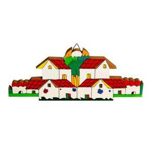 Gecas Regali dal mondo - Quadri Case con Giardino Misura 10 x 25 cm