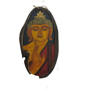 Gecas Regali dal mondo - Quadro Budda Ovale Rustico Misura 36 x 14 cm