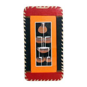 Gecas Regali dal mondo - Quadro Con Cornice In Pelle Misura 45 x 23 cm