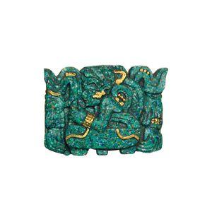 Gecas Regali dal mondo - Quadro Malachite Stella Guerriero Misura 13 x 13 cm