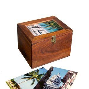 Gecas Regali dal mondo - Scatola Portafoto Legno Sheesham Misura 13 x 18 x 13 cm