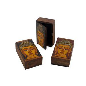 Gecas Regali dal mondo - Scatola Rettangolare Budda Misura 11 x 7 x 4 cm