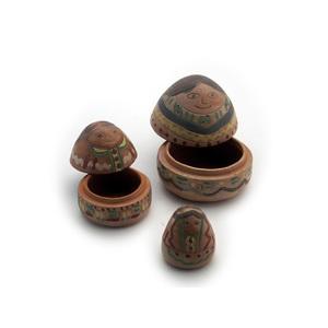 Gecas Regali dal mondo - Scatole Ceramica Set 3 H 10 cm.