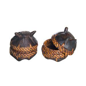 Gecas Regali dal mondo - Scatole Legno Acacia Tartaruga Misura 8 x 7 cm