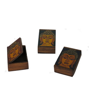 Gecas Regali dal mondo - Scatole Rettangolare Budda Misura 8 x 5 x 3 cm