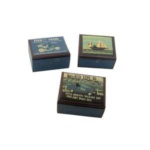 Gecas Regali dal mondo - Scatole Legno Set da 3 Misura 10 x 9 x 5 cm