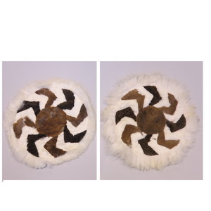 Gecas Regali dal mondo - Set di 2 TAPPETINI Alpaca D,50 CM.