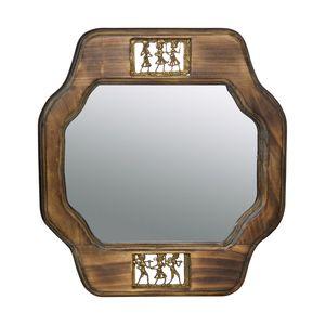 Gecas Regali dal mondo - Specchio L.Mango Figure Ottone Misura 43 x 48 cm