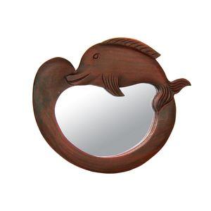 Gecas Regali dal mondo - Specchio Legno Delfino Misura 29 x 23 cm