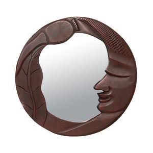 Gecas Regali dal mondo - Specchio Legno Luna Grande Misura 62 x 61 cm.1TL0838