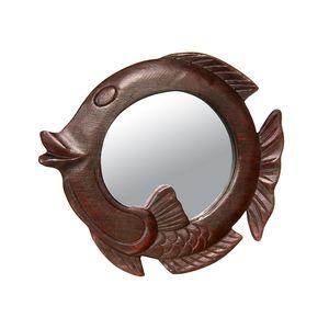 Gecas Regali dal mondo - Specchio Legno Pesce Misura 23 x 21 cm