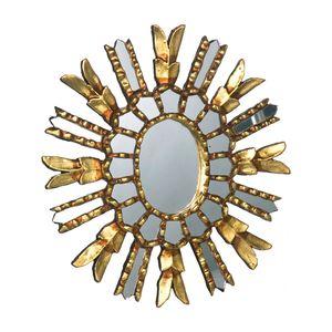 Gecas Regali dal mondo - Specchio Sole Dorato Misura 35 cm
