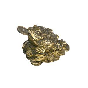 Gecas Regali dal mondo - Statua Rana Portasoldi Misura 5 x 9 cm
