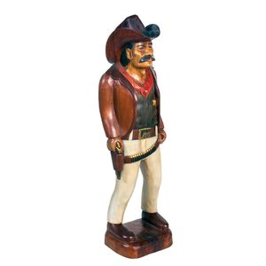 Gecas Regali dal mondo - Statue Legno Acacia Cowboy Misura H.100 cm