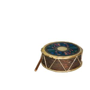 Gecas Regali dal mondo - Tamburo Indio Dipinto Doppio Misura 20 cm