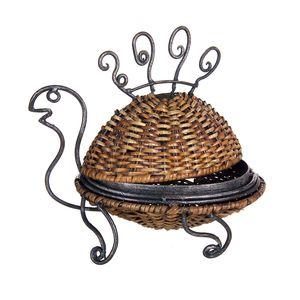 Gecas Regali dal mondo - Tartaruga Scatola Ferro Rattan Misura 30 x 25 cm