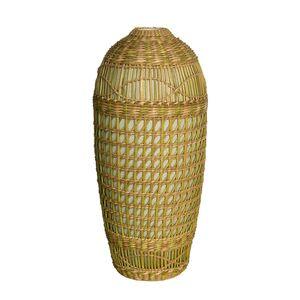 Gecas Regali dal mondo - Vaso Ceramica Rattan Misura H.33 cm