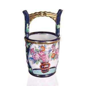 Gecas Regali dal mondo - Vaso Porcellana Secchiello Misura 12 x 23 cm
