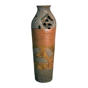 Gecas Regali dal mondo - Vaso Con Paesaggio Misura H61 x 18 cm