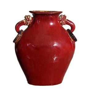 Gecas Regali dal mondo - Vaso Porcellana 2 Leoni Misura H.29 X 23 X 12 CM
