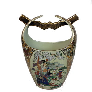 Gecas Regali dal mondo - Vaso Porcellana Secchiello 30X24X14 CM.