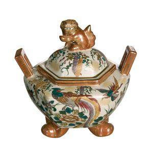 Gecas Regali dal mondo - Vaso Potish Porcellana Con Manici. Misura H. 30 cm
