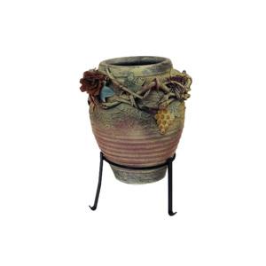 Gecas Regali dal mondo - Vaso Terracotta con Base