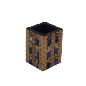 Gecas Regali dal mondo 1IN0668 - PORTAPENNE Corno Osso Bambu' 10x7x7 CM.