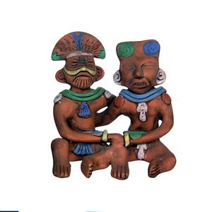 Gecas Regali dal mondo 1MX0264-D IDOLO Maya DELL'AMORE in Terracotta 17X18 CM.