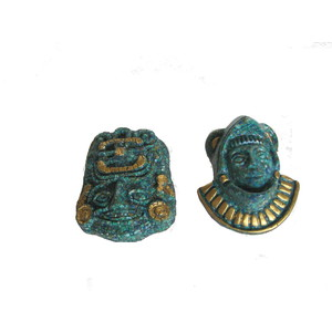 Gecas Regali dal mondo 1MX0384 - Set di 2 Maschere Malachite DIVINITA Maya 18X10