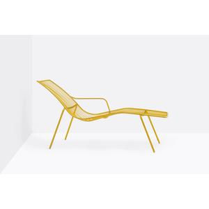 N.2 chaise longue in acciaio verniciato Nolita