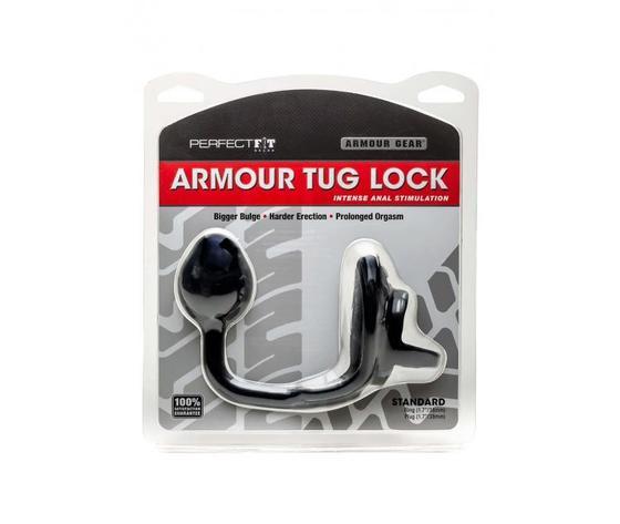 Stimolatore prostata plug anale armour tug lock black