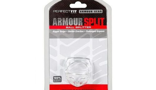 Perfect Fit Armour Split Cock Ring Clear