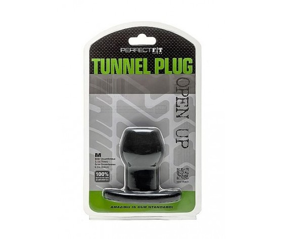 Perfect fit ass tunnel plug silicone black m