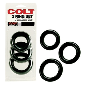 Kit di 3 anelli Colt Neri Colt