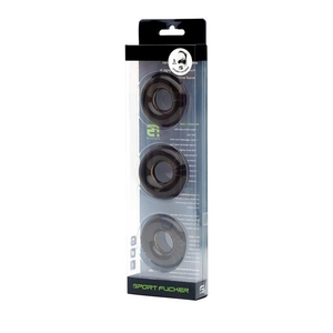 Chubby Rubber Cockring 3-Pack - Fumè