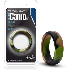 Performance - Silicone Camo Cock Ring - Green Camouflage Hypoallergenic Stretchy
