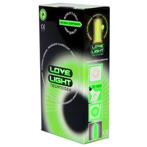 Love Light Glow Condom, Preservativi, confezione da 12