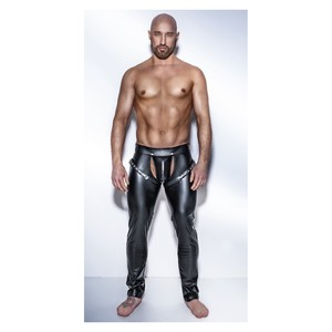 Powerwetlook pants with harness H042 TG S