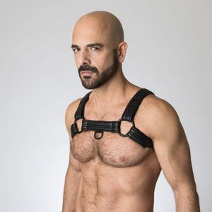 Neoprene Bulldog Harness - Black S