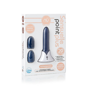 Sensuelle Point Plus Rechargeable Bullet Vibe - Blue